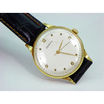Reloj Zenith Caja De Oro De 18k, Vintage Maquina De Cuerda.