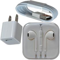 Cargador Lightning Y Audifonos Para Iphone 5-6 Original