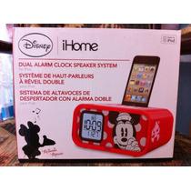 Dock Ihome Bocina Iphone Ipod Mimi Disney Reloj Alarma Doble