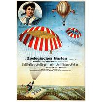 Lienzo Tela Anuncio Globo Aereo Alemania 1896 72 X 50 Cm