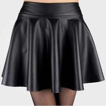 # Mini Falda Sketer Vinipiel Unitalla Negra Cintura Alta #