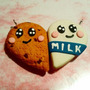 Llaveros Galleta Mitad Pareja Amor Amistad Best Friend Love