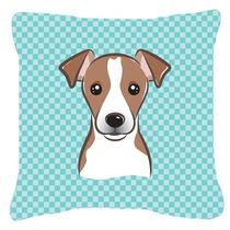 Tablero De Ajedrez Azul Jack Russell Terrier De La Lona De L