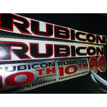 Kit De Stickers Jeep 10th Anniversary Rubicon Calcomanias