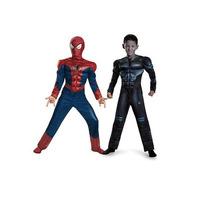 Disfraz Reversible Spiderman Hombre Araña Y Electro Talla 10