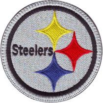 Acereros Pittsburgh Steelers Gris Parche Bordado Retro