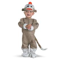 Disfraz De Chango Sock Monkey Niño Bebe Talla 12-18 Meses