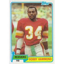 1981 Topps Bobby Hammond Rb Redskins