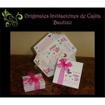 Originales Invitaciones De Cajita Bautizo