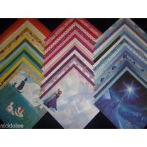 Scrapbook 150 Hojas Gruesas No Cartulinas Diseño Frozen Elsa