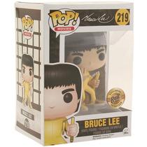 Funko Pop Muñeco De Bruce Lee Blakhelmet Amarillo Sp