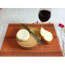 Tabla Madera Circular Plato Redonda Sushi Carnes 17cm