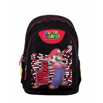 Mochila Escolar Super Mario Stay Strong Chenson Mb60640-3