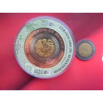 Medalla Independencia De Mexico 3 Colores Certificada