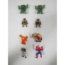 Lote 8 Figuras Monstruos Robots Spiderman Raph Cavernicola