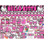 2 X 1 Kit Imprimible Hello Kitty Zebra, 3 Invitaciones Powpt