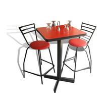 Mesa Periquera Y 4 Bancos Bar Lounge Restaurante Fabricamos