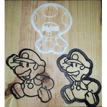 Cortadores De Galletas Mario Bros