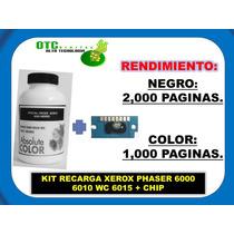 Kit Recarga Xerox Phaser 6000 6010 Wc 6015 + Chip (b/c/y/m)