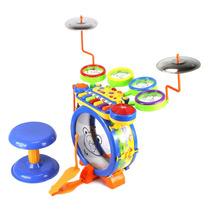 Batería Musical Tambor Bateria Infantil Niños Teclado Juguet