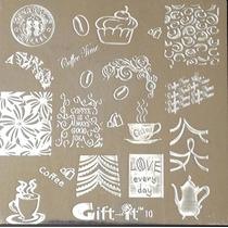 Placas Estampado Uñas Sello Starbucks Café Tipo Konad # G10