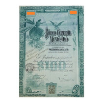 Bono - Blueberrie - Banco Central Mexicano, $100, 1905.