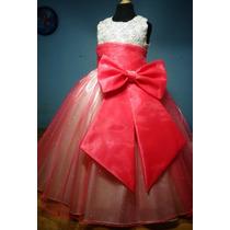 Vestido De Paje Pajecita Para Niña Falda Color Coral En