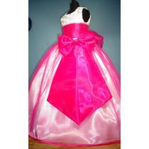 Vestido De Paje Pajecita Para Niña Falda Color Fiusha