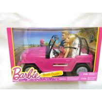 Jeep Rosa Barbie - De Playa Incluye Muñecas Nuevo Y Original