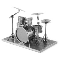 Fascinations Batería Drum Rompecabezas Metálico 3d Miniatura