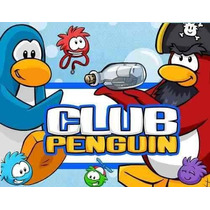 Gran Kit Imprimible Club Penguin Diseñá Tarjetas, Cumpleaños
