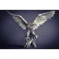 Escultura De Águila Grande Plata 999 Electroformado