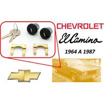 64-87 Chevrolet El Camino Chapas Puertas Llaves Color Negro
