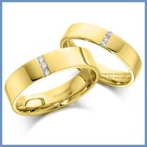 Argollas Matrimoniales Mod. Grecia Oro Amarillo 14k Solido