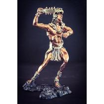Escultura Caballero Jaguar Plata 999 Electroformado Figura
