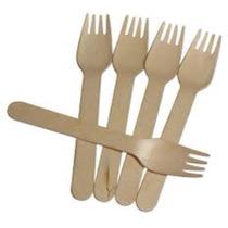 Tenedores De Madera Biodegradables!! Baratisimos!!!