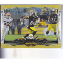 2014 Topps Gold Antonio Brown Wr Steelers /2014