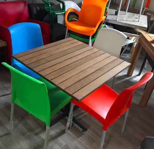 Promoci n de mesas cons sillas para restaurant o cafeteria for Sillas para bar economicas