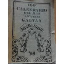 160 Calendario Del Más Antiguo Galván Para El Año 1986