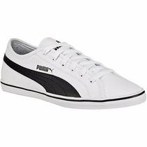 Tenis Puma Casuales Elsu V2 Jr 359847-02 Blanco Negro Pv