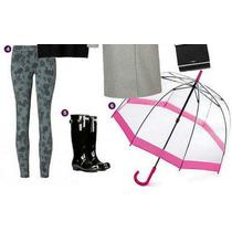 Paraguas Transparente En Forma De Hongo