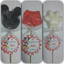 Recuerdo Brocheta Sencilla Mickey Minnie Mouse Jabon Jabones