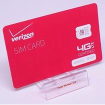 Tarjeta Sim De Verizon Nano (4ff) Para El Iphone 5 5c 5s 6 6