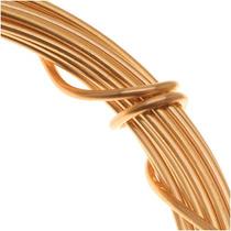 Alambre Artesano Alemán P/cuentas Cobre Chap Oro Calibre 18
