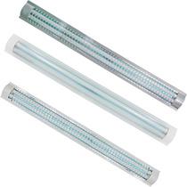 Luminario T8 Plano Rejilla Acrilico 2 Lamparas Fluorescentes