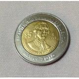 Moneda 5 Pesos Fco. Primo De Verdad Sin Puntos Coleccionable