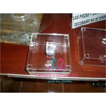 Caja De Acrilico De 13x13x5 Cm De Alto Con Tapa