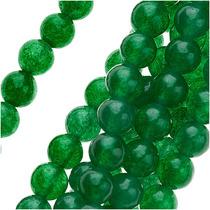 Cuentas Rondas Candy Jade 4mm, Verde, Hilo 40cm