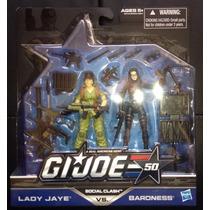 Gi Joe Social Clash Lady Jay Vs Baroness 50 Anniversary 2014