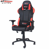 Silla Gt Omega Pro Racing Office Chair Black And Red Leather